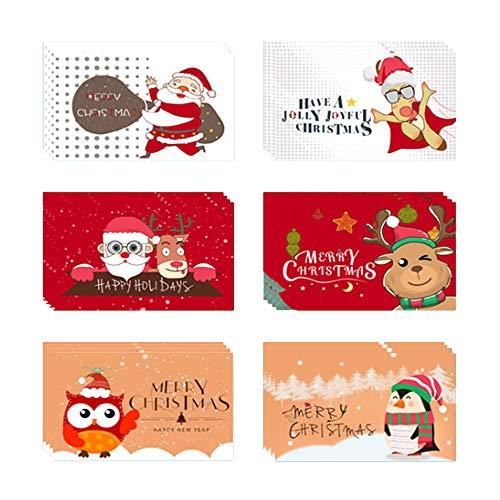 Anyingkai 24pcs Tarjetas de Navidad,Tarjetas Navidad Pack,Po