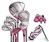 Juego de golf para niños con diseño de semilla de PGM para niñas de UL-63inches, 7club y bolsa de golf (rosa)