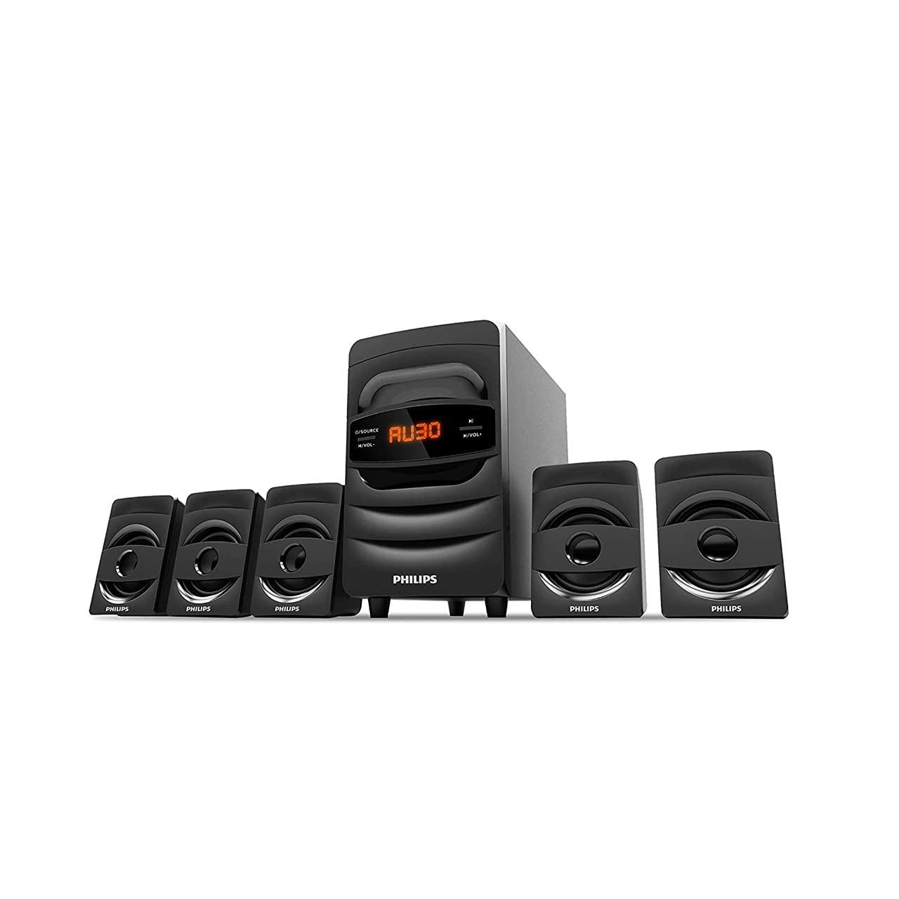 Philips Audio SPA5128B 5.1 CH 40W Bluetooth Multimedia Speakers (Black)