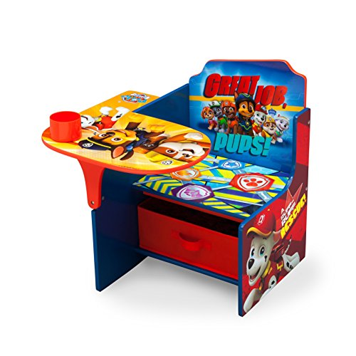 Delta Children Chair Desk with Storage Bin - Ideal for Arts & Crafts, Snack Time, Homeschooling, Homework & More, Nick Jr. PAW Patrol