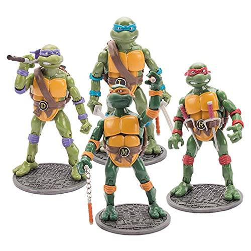 Figura Tortugas Ninja Mutantes Adolescentes, Juegos Figuras Acción Tortugas Ninja, Juguetes Decoración Modelo Personaje Anime, para La Colección Cumpleaños Infantil