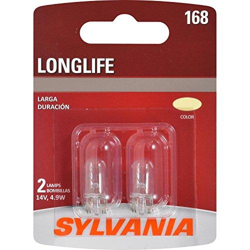 SYLVANIA 168 Long Life Miniature Bulb, (Contains 2 Bulbs)