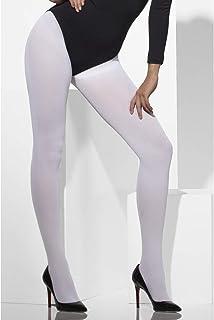 Smiffys Blickdichte Strumpfhose Weiß, One Size