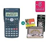 Casio FX-82MS + Kit de geometría + CD de aprendizaje CALCUSO (en alemán) + Garantía extendida 60 meses