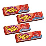 Hubba Bubba Chunky and Bubbly Bubble Gum Strawberry Flavour, 4 Pack, 4 x 35 g