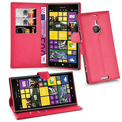 Cadorabo Funda Libro para Nokia Lumia 1520 en Rojo CARMÍN - Cubierta Proteccíon con Cierre Magnético, Tarjetero y Función de Suporte - Etui Case Cover Carcasa