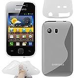 ebestStar - Funda Compatible con Samsung Galaxy Y S5360 Carcasa Gel Silicona Gel TPU Motivo S-línea, S-Line Case Cover, Transparente [Aparato: 104 x 58 x 11.5mm, 3.0'']