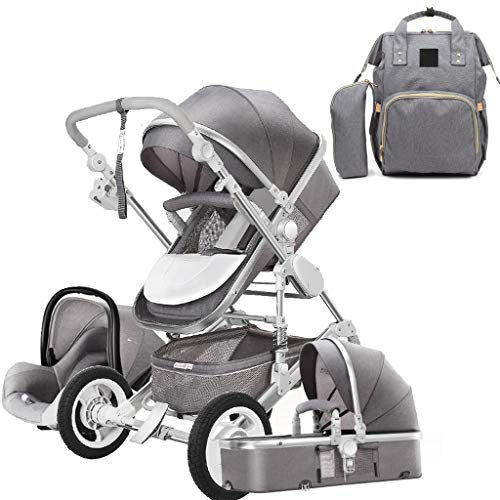 Buy Bargain Infant Strollers, 3-in-1 Convertible Pushchair Baby Stroller, Foldable Baby Carriage wit...