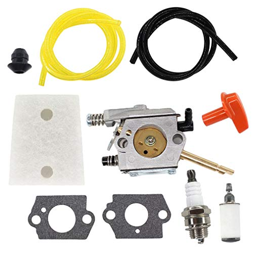AISEN Carburateur avec filtre à air Tuyau d'essence pour Stihl H24D FS48 FS52 FS66 FS81 FS86 FS106 BR400 Walbro WT-45-1 WT-45 WT-45A # 4126 120 0600