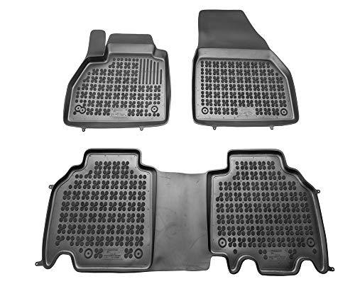 Alfombrillas de Goma Compatible con Renault KANGOO II (Desde 2008) + Limpiador de Plasticos (Regalo) | Accesorios Coche Alfombrilla Suelo