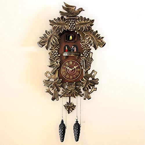 VESIFA Reloj de Pared de Cuco, Reloj de Pared de Cuco Musical, Reloj de Pared de pájaro silencioso, Reloj de Moda Creativo para Sala de Estar, Regalo de Festival CM A