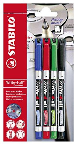 Marcatore - STABILO Write-4-all - Tratto Fine (0,4 mm) - Pack da 4 - Colori assortiti