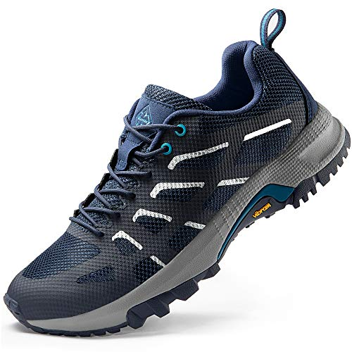 Wantdo Men's Lightweight Cross Trail Running Shoes Hiking Shoes Athletic Sneakers Navy 11 M US