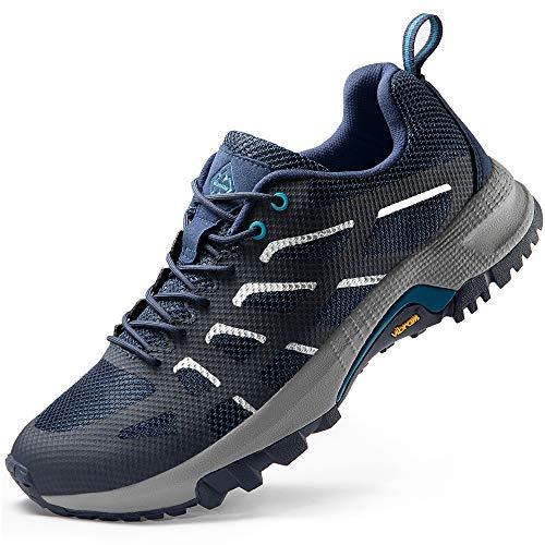 Wantdo Men's Trail Running Shoes Comfort Cross Training Shoe Jogging Sneakers Navy 7.5 M US