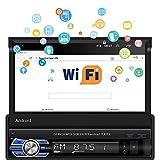 Radio de Coche Android 1 DIN - Estéreo de Coche con Pantalla táctil HD de 7 'con Bluetooth, GPS, cámara de visión Trasera, WiFi, Reproductor MP5 para Coche Compatible con MirrorLink/FM/Dab +/USB/AUX