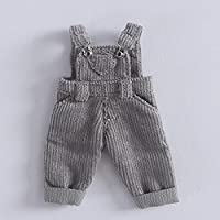 Bjd、 1/12ファッション漫画BJD人形のおもちゃドレスアップデニムのオーバーオールDIYおもちゃ女の子のためのギフト,gray