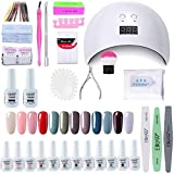 Elite99 Lámpara UV LED para Uñas 24w, 12 Colores Kit de Esmaltes Semipermanentes en Gel UV LED,...