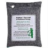 Eliminador De Olores De Carbón Vegetal Desodorante De Carbón Activado De Bambú Desodorante Natural Elimina El Olor Y Eliminador De Humedad 5 Piezas Gris