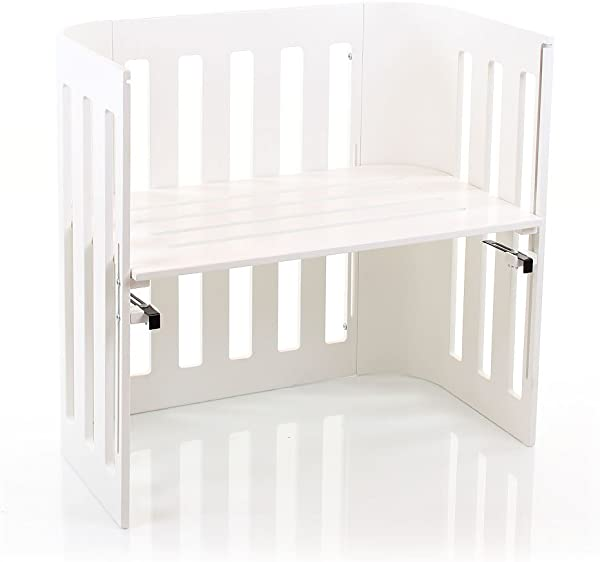 Babybay Trend Bedside Sleeper Cot White Varnished