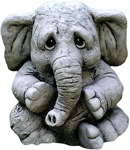 JeeKoudy Estatua con Forma de Elefantes Resina Elefante Animales Escultura al Aire Libre estatuilla Decorativa para el hogar Adornos para el Suelo de la Sala de Estar