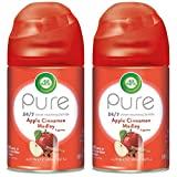 Air Wick Freshmatic 2 Refills Automatic Spray, Apple Cinnamon Medley, 2ct, Holiday scent, Holiday spray, Essential Oils, Air Freshener, Odor Neutralization, Packaging May
