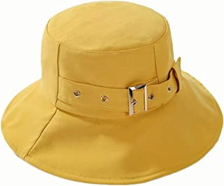 Hat Ms. Fisherman Hat Personality Harajuku Street Basin (Color : Yellow, Size : 56-58CM)