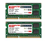 Komputerbay MACMEMORY 8GB (2x 4GB) DDR3 PC3-8500 1066MHz SODIMM 204-Pin Memoria del ordenador portátil para Apple Mac