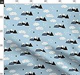 Winter, Skandinavisch, Geometrisch, Wolken, Berg, Schnee,