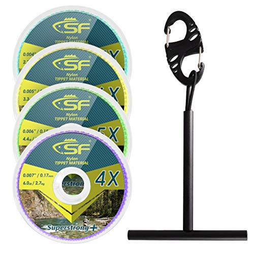 SF Clear Monofilament Tippet Line with Holder Fly Fishing Tippets Leaders Trout # Monofilament 3-4-5-6X