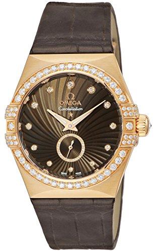 [オメガ] 腕時計 Constellation ブラウン文字盤 コーアクシャル自動巻き ダイヤモンド 123.58.35.20.63.001 レディース 並行輸入品 ブラウン