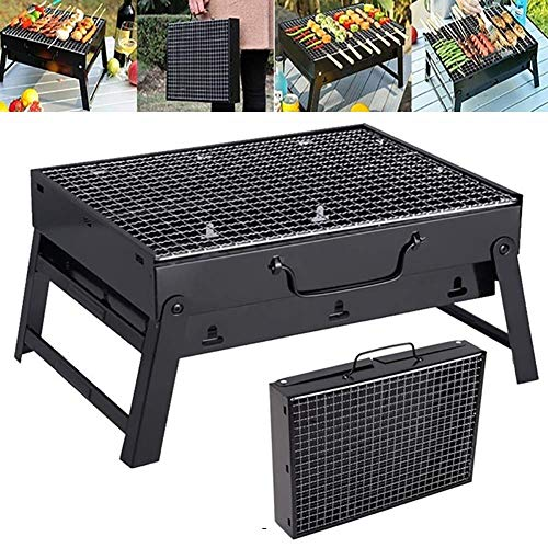 Dpliu barbecue Barbecue Grill, Portable Easy Folding Grill Barbecue Charcoal Grill Patio Outdoor Camping Party Accessories, Size:35 * 27 * 20cm