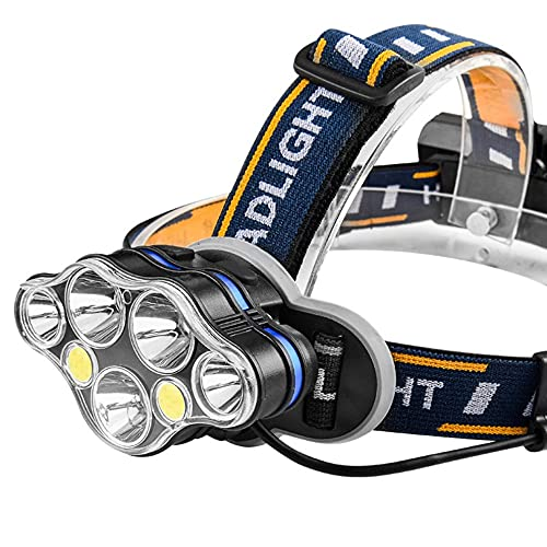#N/D Faro LED faro USB recargable cabeza antorcha Super brillante impermeable faros para camping ciclismo escalada senderismo
