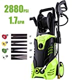 Homdox 2880 PSI Power Washer, 1800W Electric Pressure Washer, High Pressure Washer with Hose Reel, 5 Nozzle Adapter,1.7 GPM,HM5217