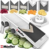 Mueller Austria Premium Quality V-Pro Multi Blade Adjustable Mandoline Cheese/Vegetable Slicer, Cutter, Shredder with Precise Maximum Adjustability