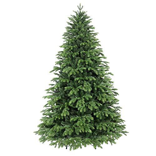 Giulia Grillo Albero di Natale 210cm, 2382 Rami, Realistico, Facile da Montare, Folto, PE/PVC, Verde