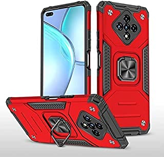 الهاتف - Armor For Infinix Zero 8 8i Hot 9 10 play Nóte 7 Lite Hard Case + Tempered Glass Car Holder Ring Protective Smart...