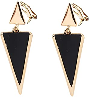 7e309ab9c768 Clip on Earring Back with Pad Double Triangle Dangle for Girl Kid no  Piercing Fashion Jewelry