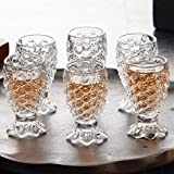 Casemantra® Fish Scale Design Shot Glass Set, 30ml, Transparent (6)
