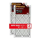 Filtrete 16x25x1, AC Furnace Air Filter, MPR 1000, Micro Allergen Defense, 2-Pack (exact dimensions 15.719 x 24.72 x 0.84)