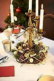 Heitmann Deco Weihnachten - Kranz - Tannenzapfen - Kugeln - Advent - Gold,Glitzer, Natur - ca. 32 x 32 x 9,5 cm - 2