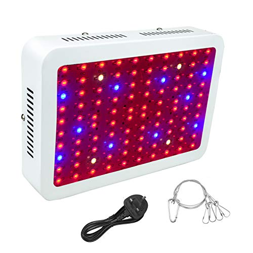 WYZM LED Pflanzenlampe,LED Grow Lampe,1000W HPS Äquivalent,Volls pektrum-Indoor-Wachstumslampe, spezielles Design für Indoor-Wachstumsanlagen,100-240V-Eingang (100X10W)