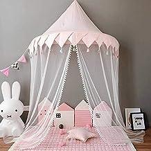 Ymachray سرير كانوبي للبنات ، أطفال قلعة لعب خيمة البعوض صافي الفراش ديكور الأميرة المعطف