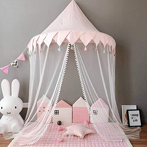 Ymachray Bed Canopy for Girls Bed, Kids Kids Castle Play Tent Mosqutio Net Bedding Decor Princess Nusery