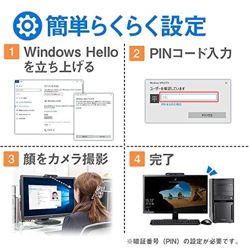 『mouse USB顔認証カメラ Windows Hello 機能対応 CM01』の3枚目の画像