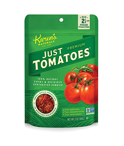 Karen's Naturals Just Tomatoes, 2 Ounce Pouch (Packaging May Vary) All Natural Freeze-Dried Fruits & Vegetables, No Additives or Preservatives, Non-GMO