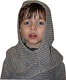 Kinder Kettenhaube vom Ritter Kettenhemd, grau Einheitsgröße