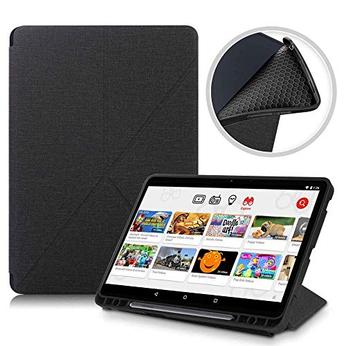YYLKKB con Estuche para lápiz para Samsung Galaxy Tab S7 Plus Funda para Tableta con Soporte Inteligente para Estuche Galaxy Tab S7-BXJG Negro_Tab S7 Plus de 12,4 Pulgadas