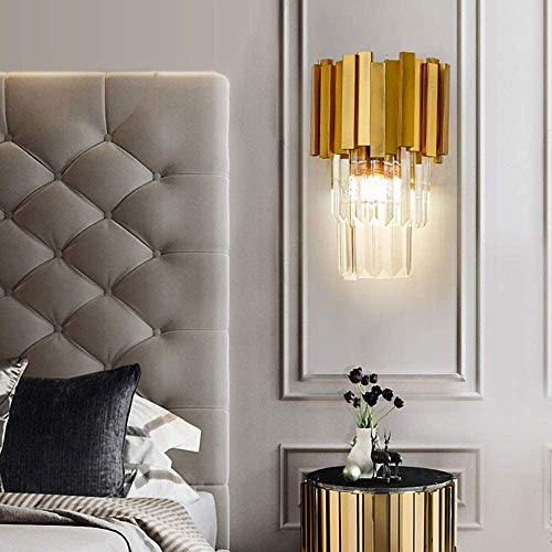 YANQING duurzame 20 * 31 cm goud warm licht Europese kristallen muur lamp gang eetkamer woonkamer slaapkamer nachtkastje verlichten uw leven