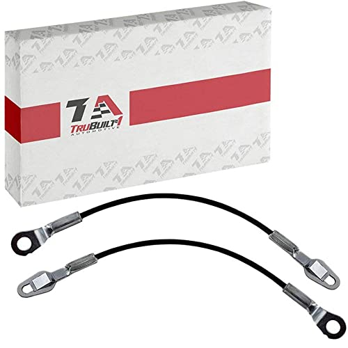 T1A Tailgate Support Cables Replacement for 1999-2007 Chevy Silverado, 15 1/8 Inches Long, Pair Also Fits GMC Sierra, Chevy Avalanche, Cadillac Escalade, Hummer H2 88980509 88980510