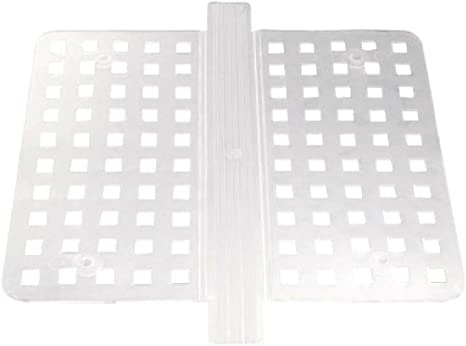 Amazon Com Colibrox Double Sink Saddle Divider Middle Protector Mat Clear Kitchen Dish Durable Grips Home Kitchen